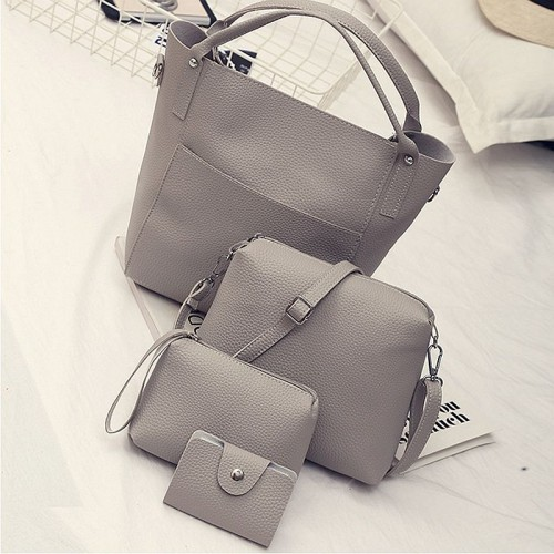 Newest Brand Four Piece Women Messenger Bags Solid Composite Bags Casual Crossbody bags For Women