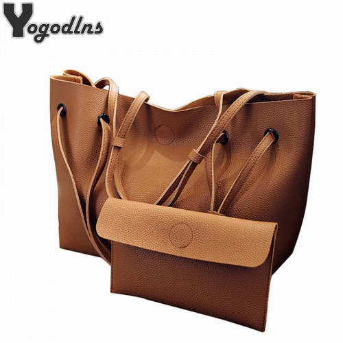 Soft Leather Women Bag Set Luxury Brand Fashion Designer Female Shoulder Bags Big Casual Bags