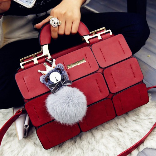 suture Boston bag inclined shoulder ladies hand bag women PU leather handbag sac woman bags