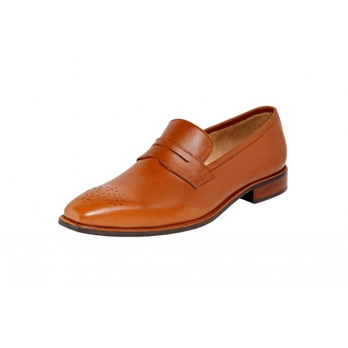 Castillo Genuine Leather RH Mustang Tan Shoes