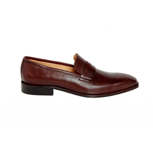 Castillo Genuine Leather RH Mustang Maroon Shoes