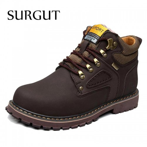 Brand Super Warm Men s Winter Waterproof Rubber Snow Boots Leisure