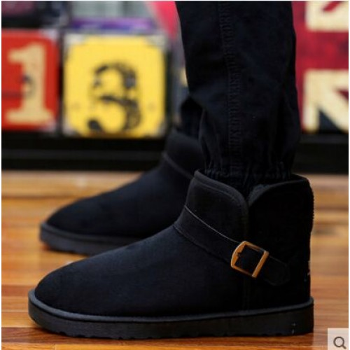 Men s Winter Faux Suede Snow Boots Keep Warm Leisure Shoes Men