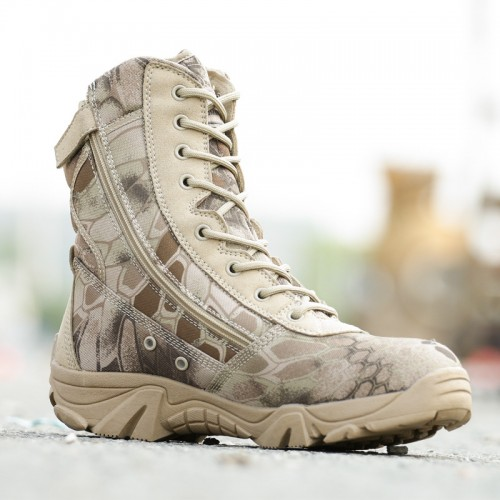 Military Tactical Combat Waterproof Boots Army Men Desert Boots Autumn Spring Travel Climbing