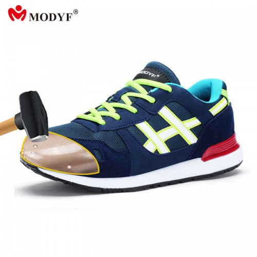 Modyf Men slim design steel toe cap work safety shoes anti footwear