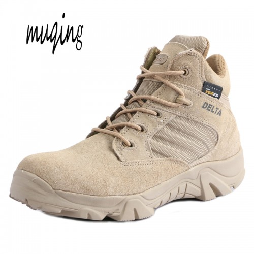 Muqing Autumn Winter Military Tactical Boots Round Toe Desert Combat Boots Men Outdoor Army