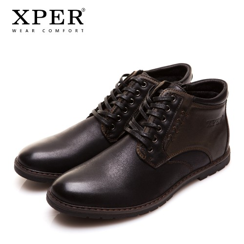 XPER Brand Autumn Winter Men Shoes Boots High Cut Lace up Warm Hombre