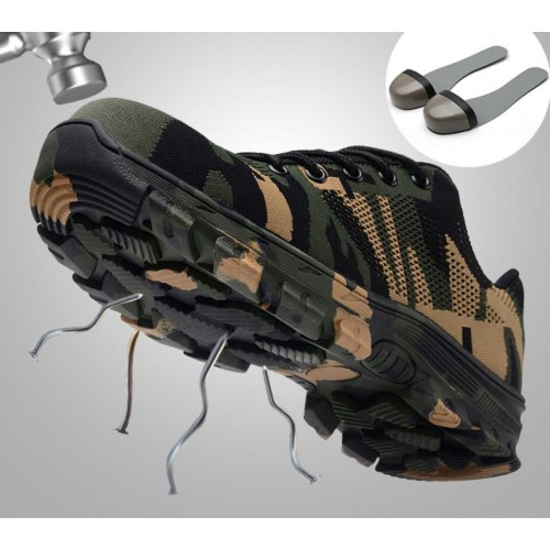 Anti smashing and anti piercing shoes wear resistant work shoes site work shoes hiking and leisure
