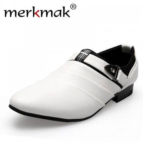 British Men Leather Shoes slip on Men s flats casual flats pointed