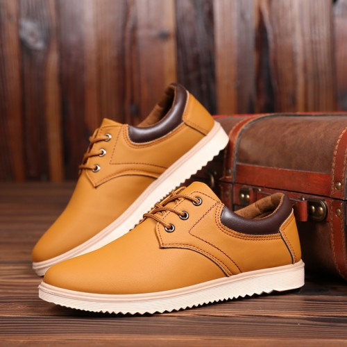 New Leather Shoes Men s Flats Oxfords Shoes Fashion Design Men Causal Shoes Lace Up Leather
