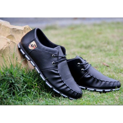 Spring Autumn Black White PU Leather Shoes Men s Business Shoe Man Breathable Casual Shoes Moccasins