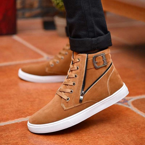 Cresfimix hommes chaussures male fashion black comfortable lace up high shoes men cool plus size autumn