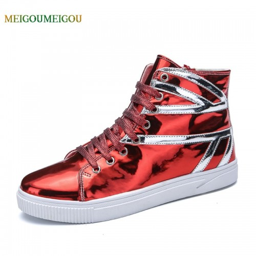 MEIGOUMEIGOU New Arrival Cool Men Vulcanize Shoes High Quality Round Toe Casual Shoes Men Lace up