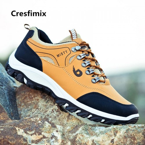 Male Fashion Comfortable Outside Sneakers Men Cool Anti Skid Outside Yellow Shoes Man Lace Up Autumn
