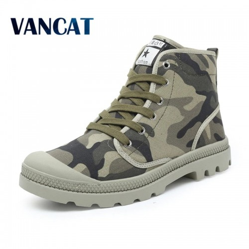 Men Casual Shoes Ankle Military Canvas Shoes Tactical Combat Lace Up Spring Autumn Men shoes Zapatillas