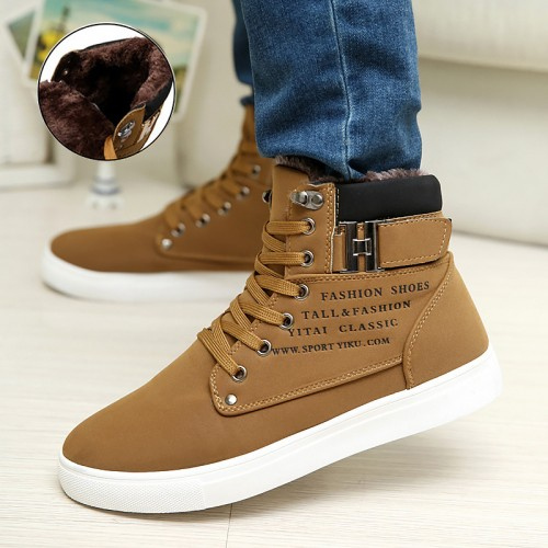 Men shoes fashion new arrivals warm winter shoes men High quality frosted suede shoes men