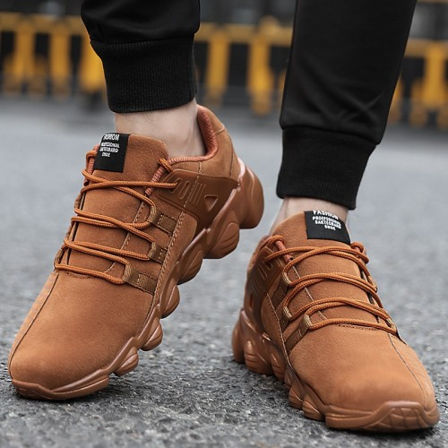 UBFEN selling fashion Casual Shoes For Men comfortable shoes autumn winter warm black yellow casual