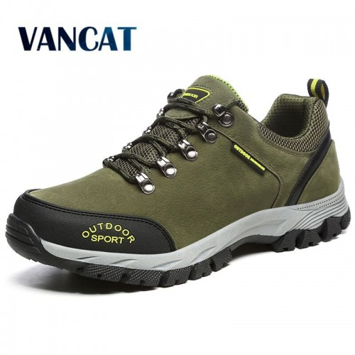 VANCAT Men Big Size 39 49 Fashion Men Shoes Comfortable Waterproof Outdoor Casual Shoes Lace Up