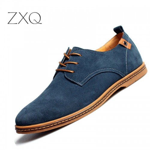 fashion men casual shoes new spring men flats lace up male suede oxfords men leather