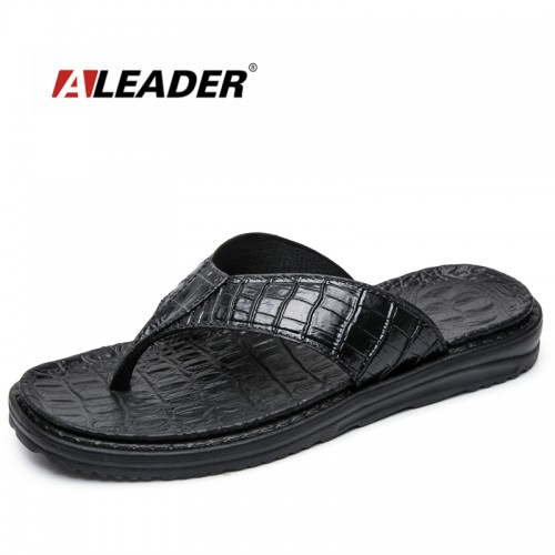 Aleader New Extremely Soft Flip Flops Men Sandals Beach Shoes For Men High Quality Eva