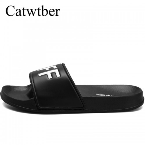 Catwtber Brand Slippers Men Unisex Bathroom Shower Slippers Indoor Home Slippers Beach Flip Flops Summer Flat