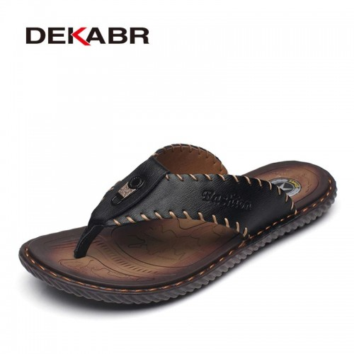DEKABR New Arrival Summer Men Flip Flops High Quality Beach Sandals Non slip Male Slippers Zapatos