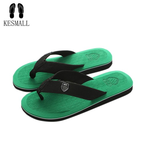 KESMALL New Arrival Summer Men Flip Flops High Quality Beach Sandals Anti slip Zapatos Hombre Casual