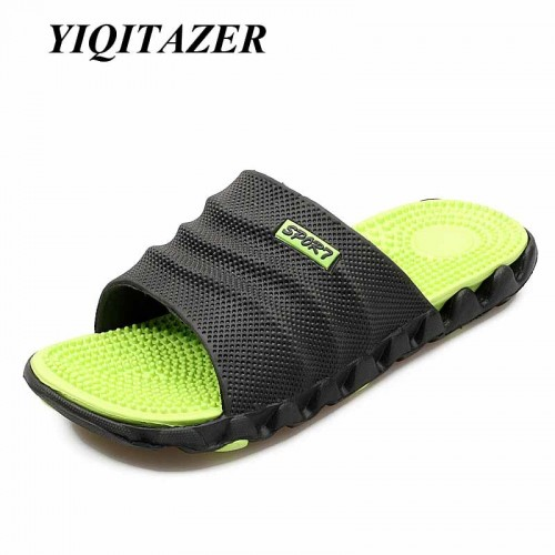 New Summer Cool Water Flip Flops Men High quality Soft Massage Beach Slippers Fashion