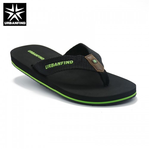 URBANFIND Solid Color Men Casual Flip Flops Black Brown Size 41 46 Home Beach Summer Slippers