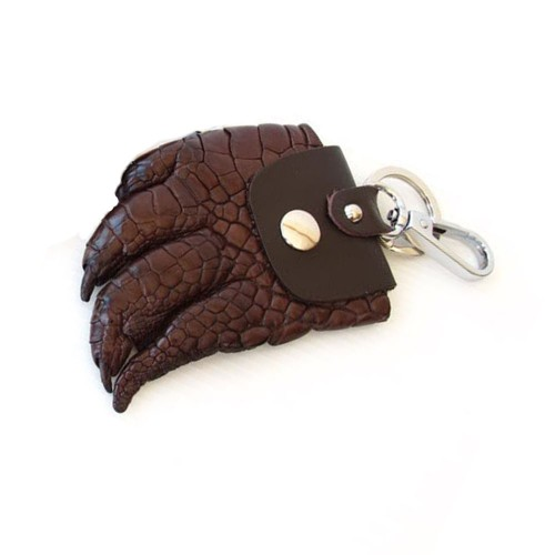 Castillo Genuine Leather Keychain Crocodile