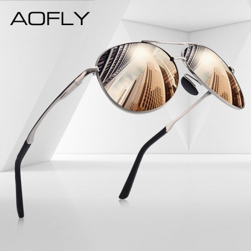 Men Classic Pilot Polarized Aviation Frame fashion Sunglasses
