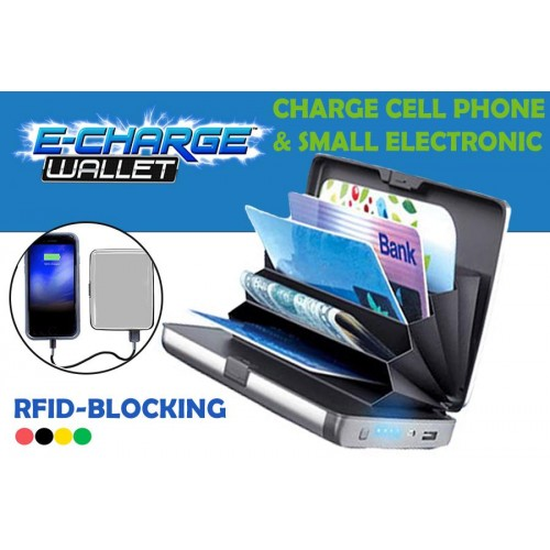E-Charge Portable Wallet Powerbank Card Holder RFID Blocking Wallet High Quality
