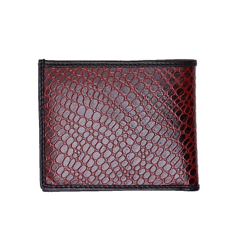Castillo Genuine Leather Wallet M-009 (CWM-111) Red And Black