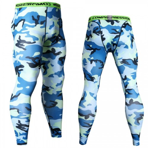 Camouflage Joggers Leggings Men Quick Dry Compression Pants Gyms Fitness Tights