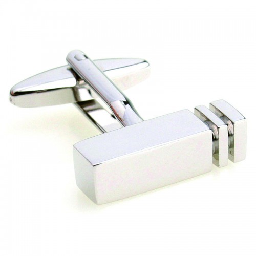 Clearance Rectangle Blank cufflinks Stainless Steel Lepton Brand business cuff links Wedding Party
