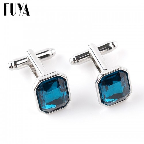Elegant rectangle crystal lawyer cufflinks for mens buttons jewelry Trendy twins cufflinks mens shirt gifts cuff