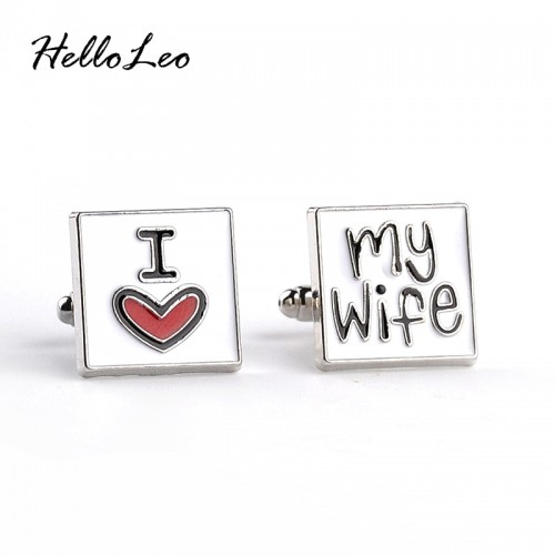 Fashion Cufflink for men I Love My Wife Design Good Husband Cuff Link Men