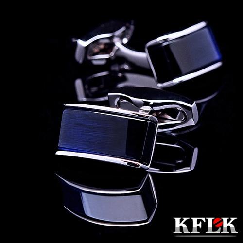 KFLK Luxury New shirt cufflinks for mens Brand cuff buttons cuff links Blue gemelos High