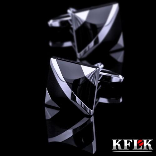 KFLK jewelry fashion shirt cufflinks for mens Brand cuff buttons cuff link Black gemelos High Quality