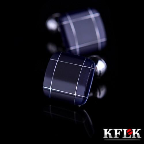 KFLK jewelry fashion shirt cufflinks for mens gift Brand cuff links buttons Blue High Quality abotoaduras