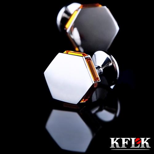 Luxury shirt cufflinks for mens gift Brand cuff buttons Crystal cuff link High