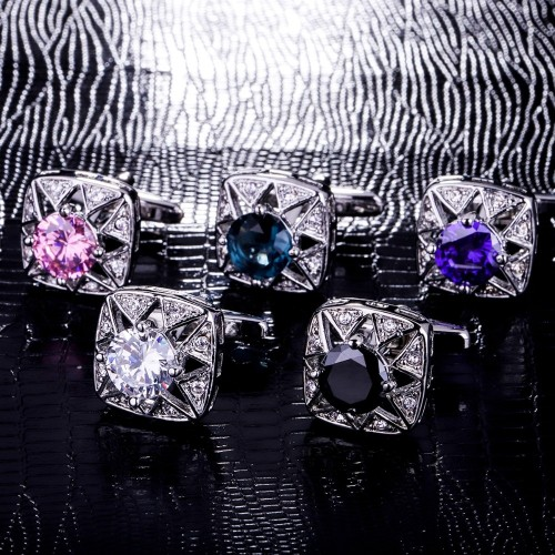 MAISHENOU Cufflinks for mens Brand Wedding buttons Luxury cheap cuff links High Quality