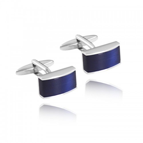 New Exquisite Blue Square Shirt Cuff links Unique Copper Color Retention Cufflinks Quality French Mens Cuff