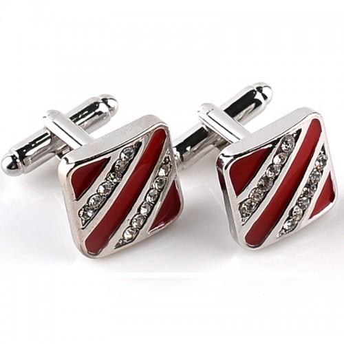 new Trendy Mens Shirt Cufflinks For Men Wedding Brand Cuff Button Red Black French Cuff Links