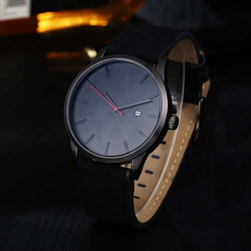 Fashion Casual Mens Watches Top Brand Luxury Leather Business Quartz Watch Men Wristwatch Relogio Masculino