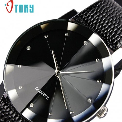 Hot hothot men watch Luxury Quartz Sport Military Stainless Steel Dial Leather Band Wrist Watch Dropshipping