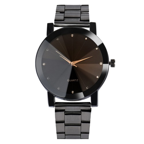 Luxury Watches Women Fashion Crystal Bracelet Wrist Watch Men Mesh Band Quartz Watch Mens Stainless Steel