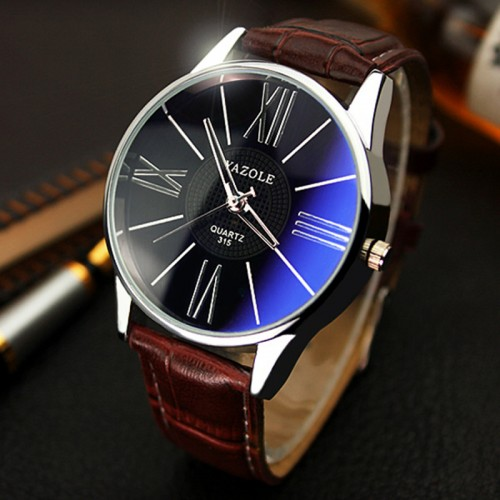 Mens Watches Top Brand Luxury Yazole Watch Men Fashion Business Quartz watch Minimalist Belt Male