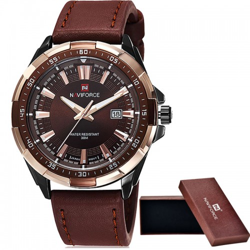 NAVIFORCE Brand Men s Fashion Casual Sport Watches Men Waterproof Leather Quartz Watch Man military