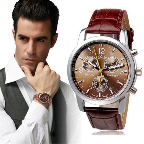 New Luxury Fashion Men s Watches Crocodile Faux Leather Clock Stylish Analog wristwatches F3